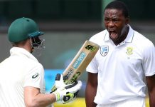Kagiso Rabada Steve Smith Australia South Africa
