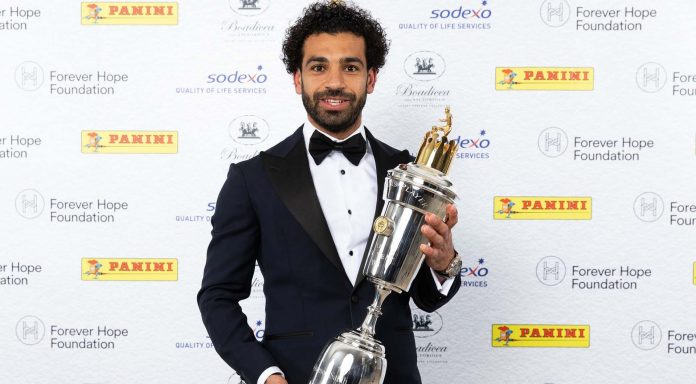 Mohamed Salah Liverpool PFA player of the year