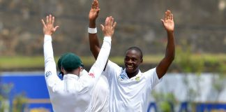 Rabada rattles Sri Lankan middle-order in 1st Test