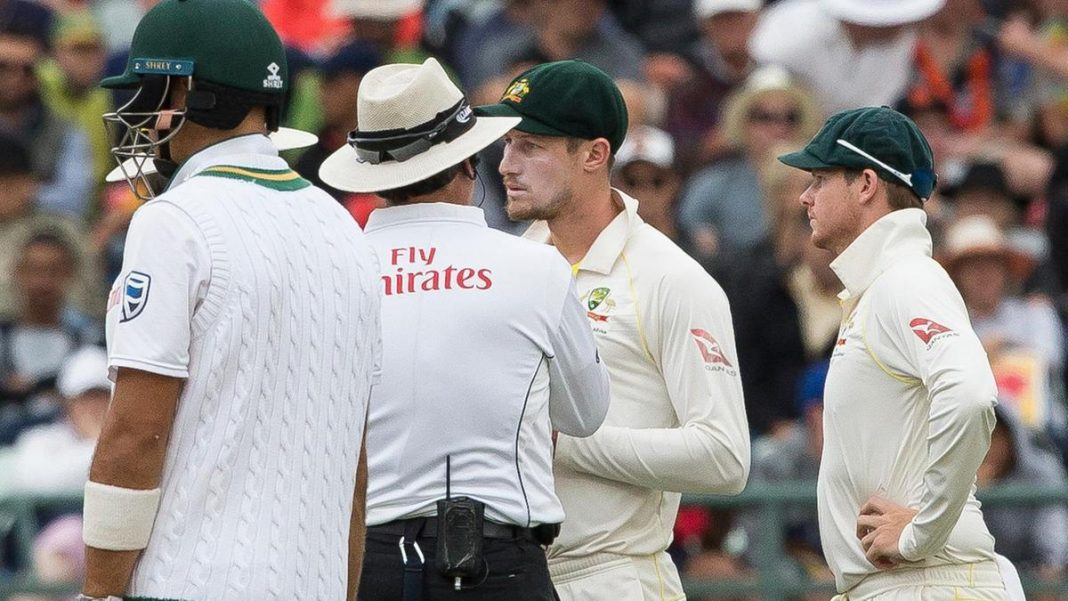 ICC ball-tampering sledging