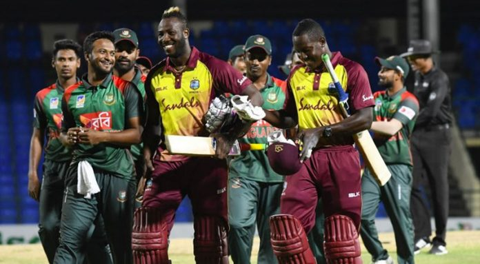 Williams, Russell power West Indies over Bangladesh