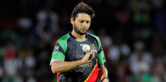 Shahid Afridi to miss CPL due to knee rehab
