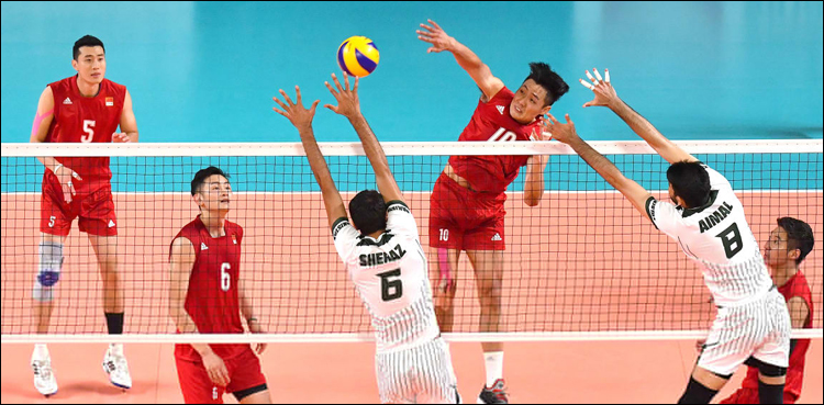 Pakistan rout China 3-2 to reach in Asian Games volleyball final