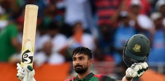 Das century takes Bangladesh to below-par 222 in Asia Cup final