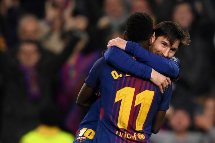 Dembele, Messi partnership fuelling Barca goal rush