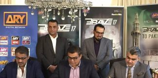 Mr Salman Iqbal signs contract to bring Brave 17 MMA franchise to Pakistan