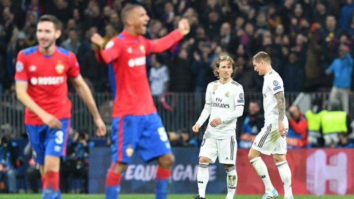 Real Madrid suffer shock Champions League defeat as Man Utd stutter again