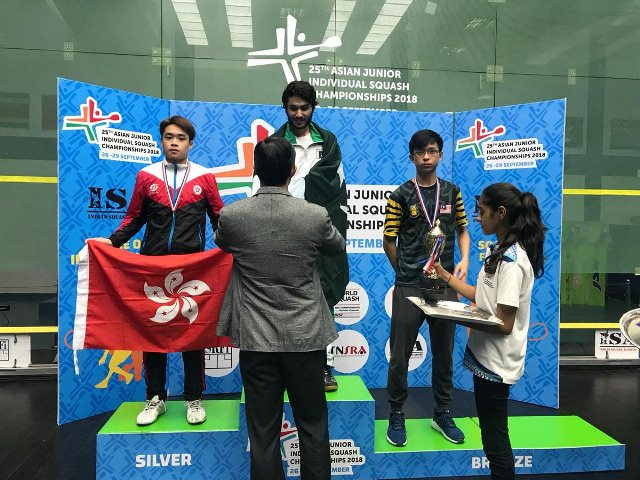 Pakistan bags three Gold, one Silver medal in Asian Junior Squash Championship