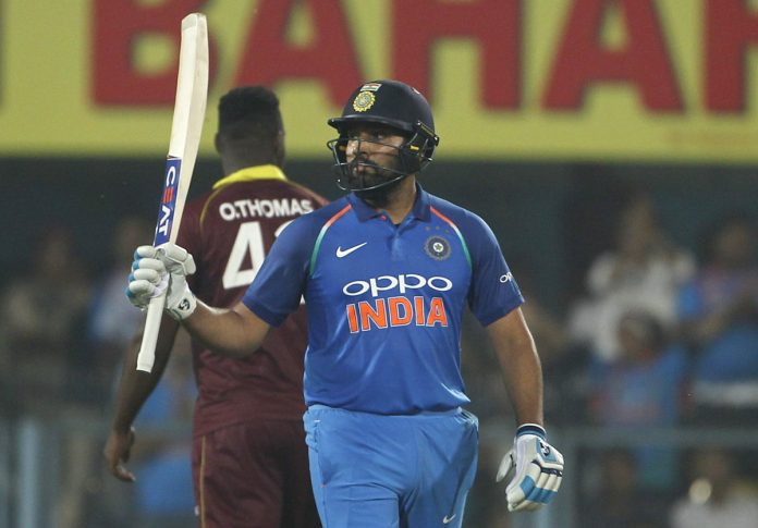 Sharma, Rayudu tons set up India's 224-run ODI victory