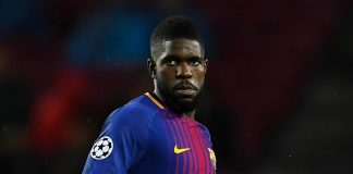 Barcelona send Umtiti to Doha for knee fix