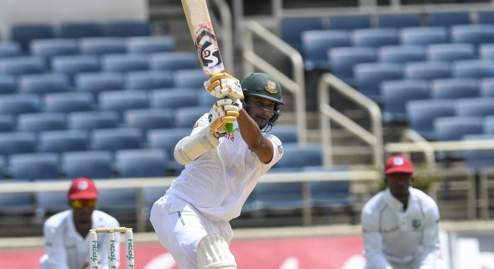 Shadman, Shakib give Bangladesh solid start against Windies