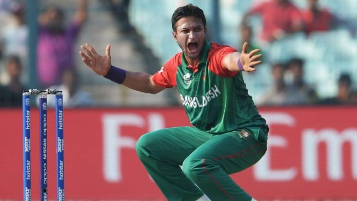 Shakib fined for shouting at umpire