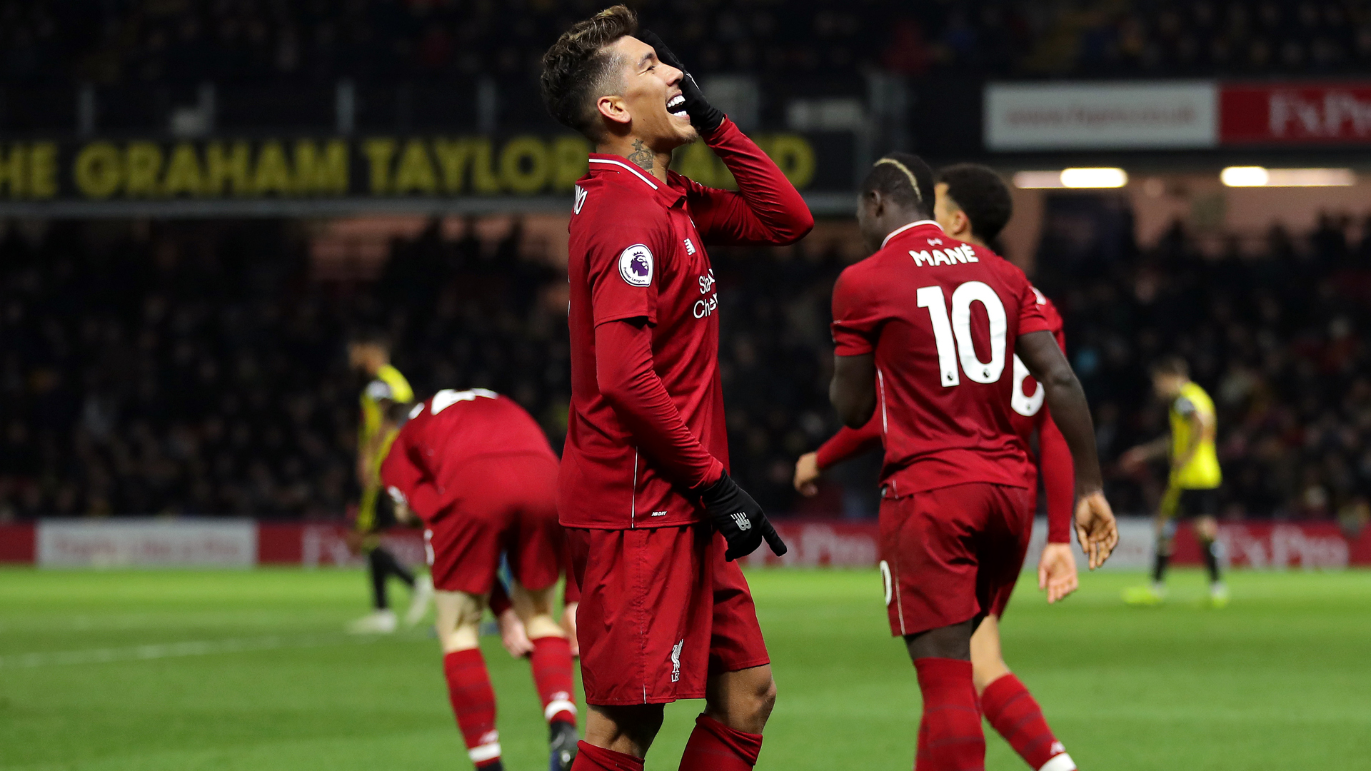 Firmino sparks five-goal Liverpool as leaders open nine-point gap