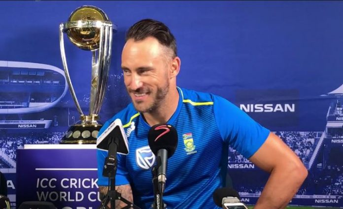 Du Plessis terms England, India as World Cup favourites