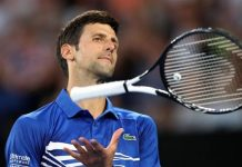 Agitated Djokovic regains calm to see off Shapovalov challenge