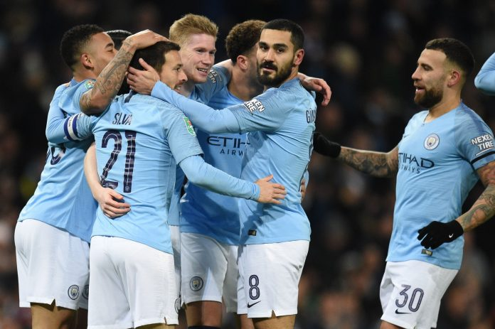 Man City hit nine past Burton to cruise towards League Cup final