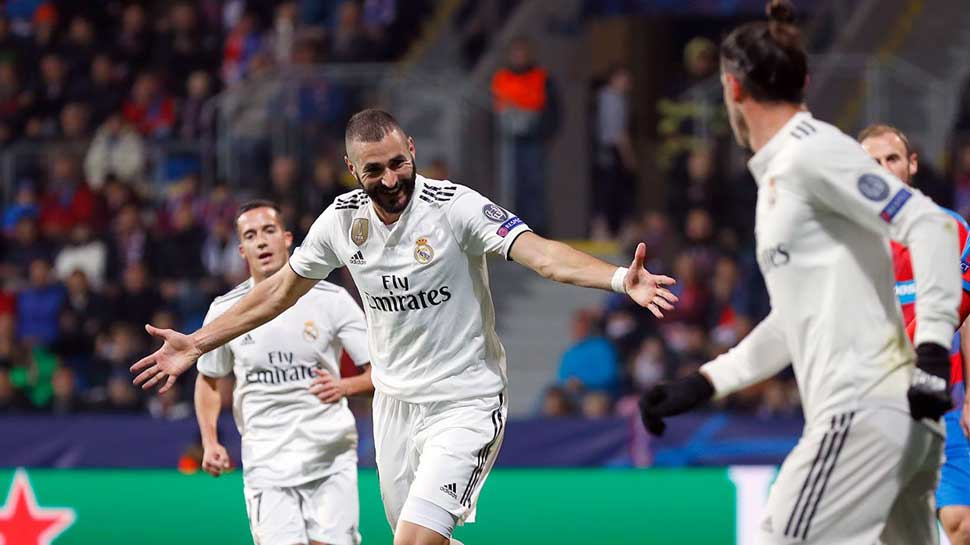 Benzema double seals Real Madrid's place in Copa semis