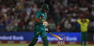 Babar raises half-century as Pakistan continue their chase