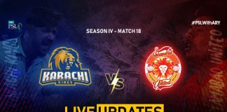 LIVE: Karachi Kings look to continue their winning momentum against United