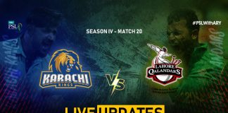 LIVE: Karachi Kings eye win against Lahore Qalandars