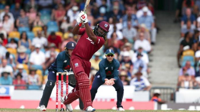 Gayle blasts Windies to victory after England collapse