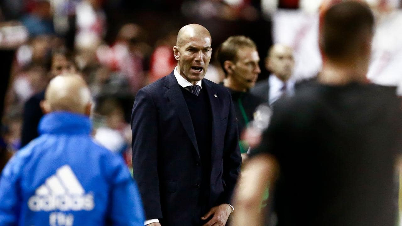 Angry Zidane apologises after Madrid lose to struggling Rayo