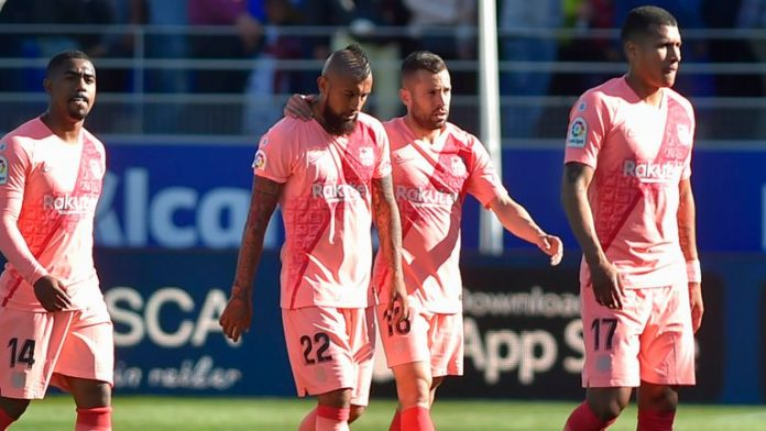 Rotated Barca surrender two points to Atletico after Huesca draw