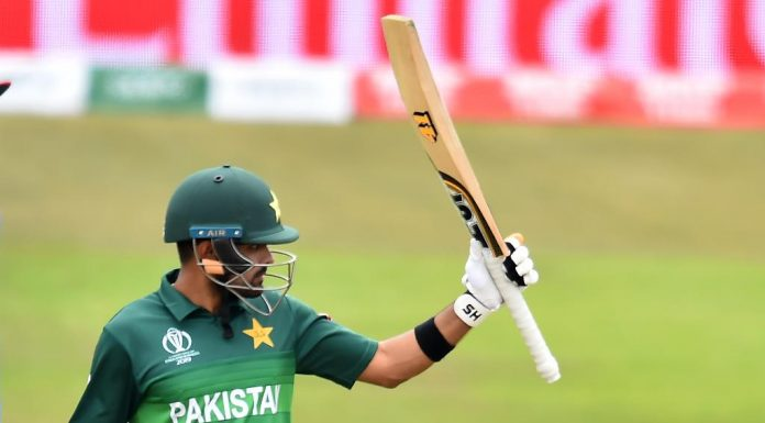 Babar's ton takes Pakistan to 262 in the warm up game