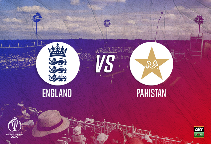 England won the toss and elected to bowl first against Pakistan