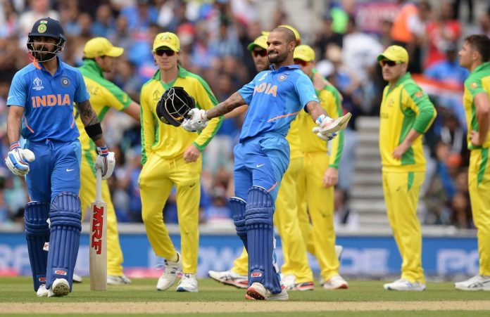 Ton-up Dhawan stars as India beat Australia