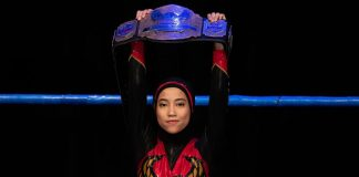 Malaysia's 'Phoenix': hijab-wearing wrestler breaking barriers