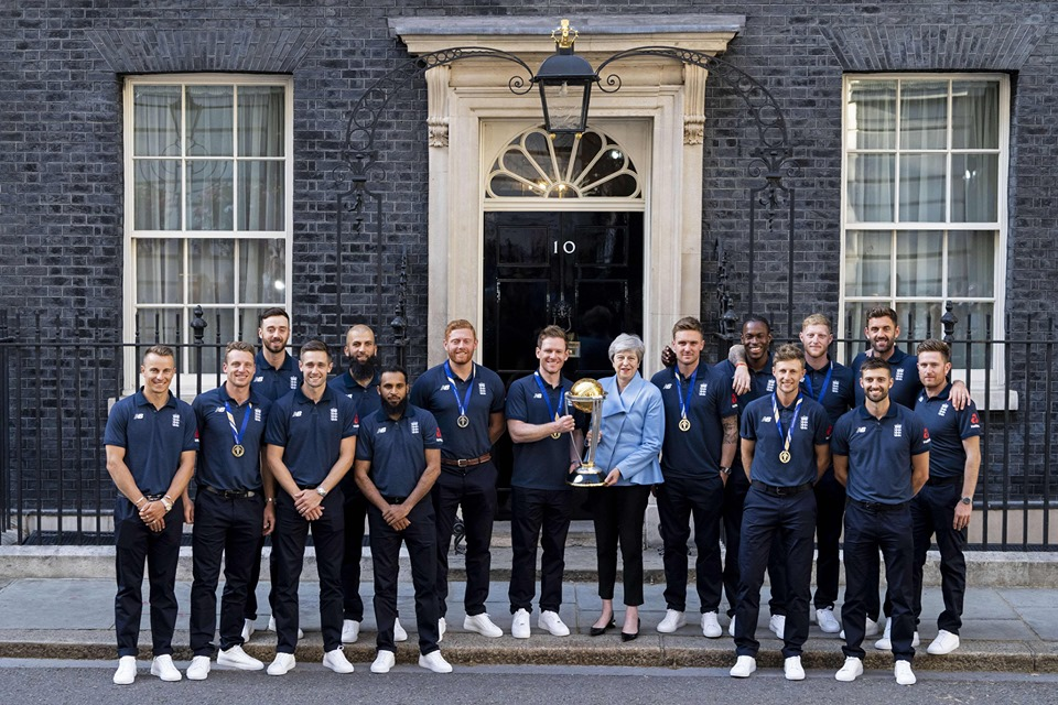 PM May hosts victorious England cricket team