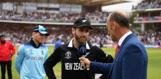 New Zealand win toss and bat in the World Cup final