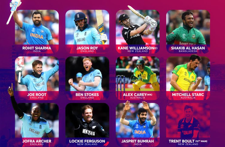 ICC announce team of the World Cup 2019