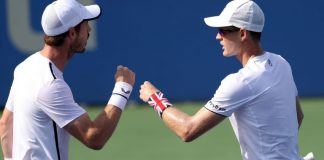 Andy Murray reunites with brother Jamie for doubles win