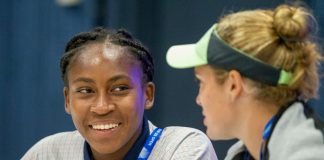 Coco takes doubles win after tearful US Open singles exit