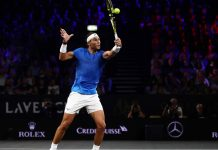 Nadal out of Laver Cup with hand injury