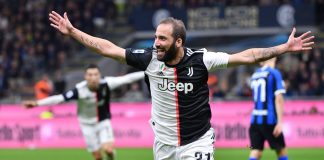 Juventus go top as Higuain seals victory against Inter Milan