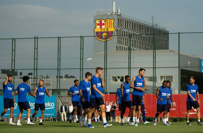 Barcelona go back to training after two months lockdown